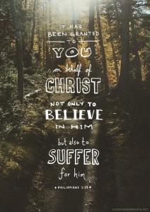 Suffer for Jesus