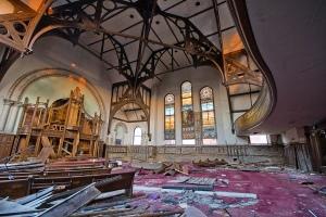 broken down church