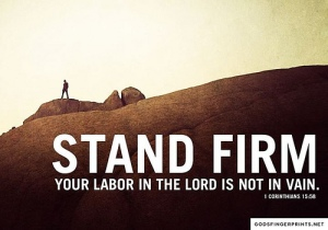 Stand Firm in Your Labor in the Lord